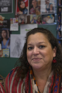 Claudia Gray in her classroom at AGS