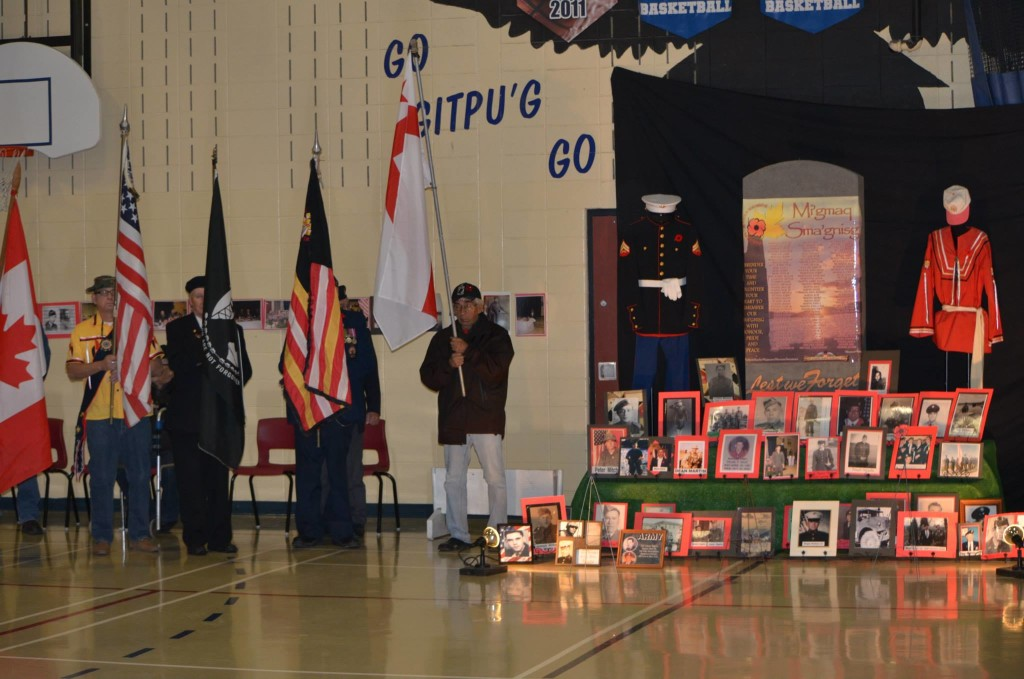 The Remembrance Day Ceremony at AGS in 2014.