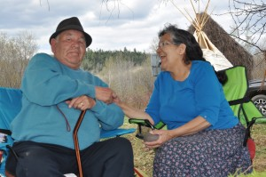 Elders Frank and Josie Augustine from Elsipogtog