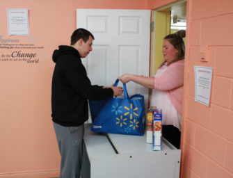 Small change to the food bank